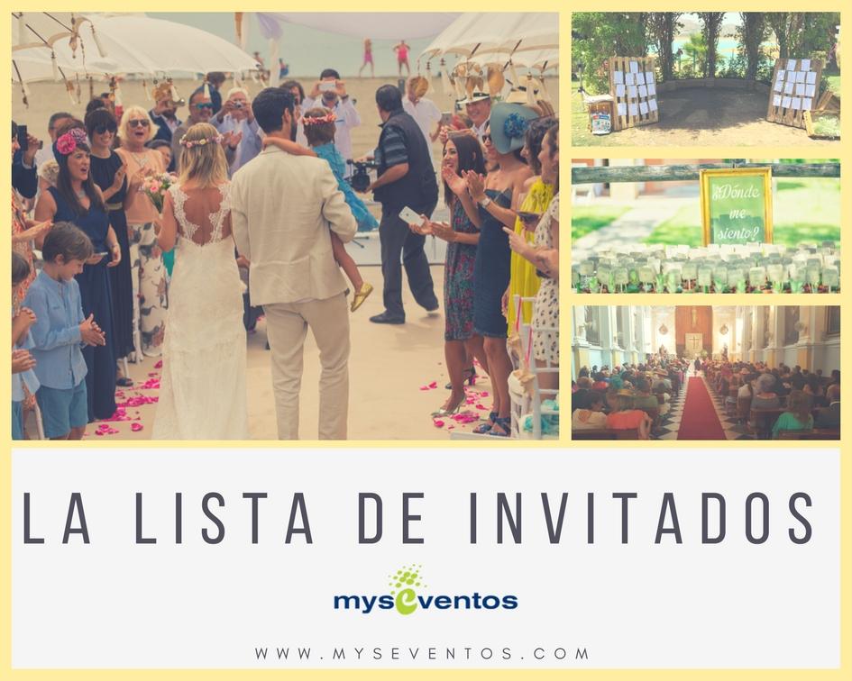 La lista de invitados boda