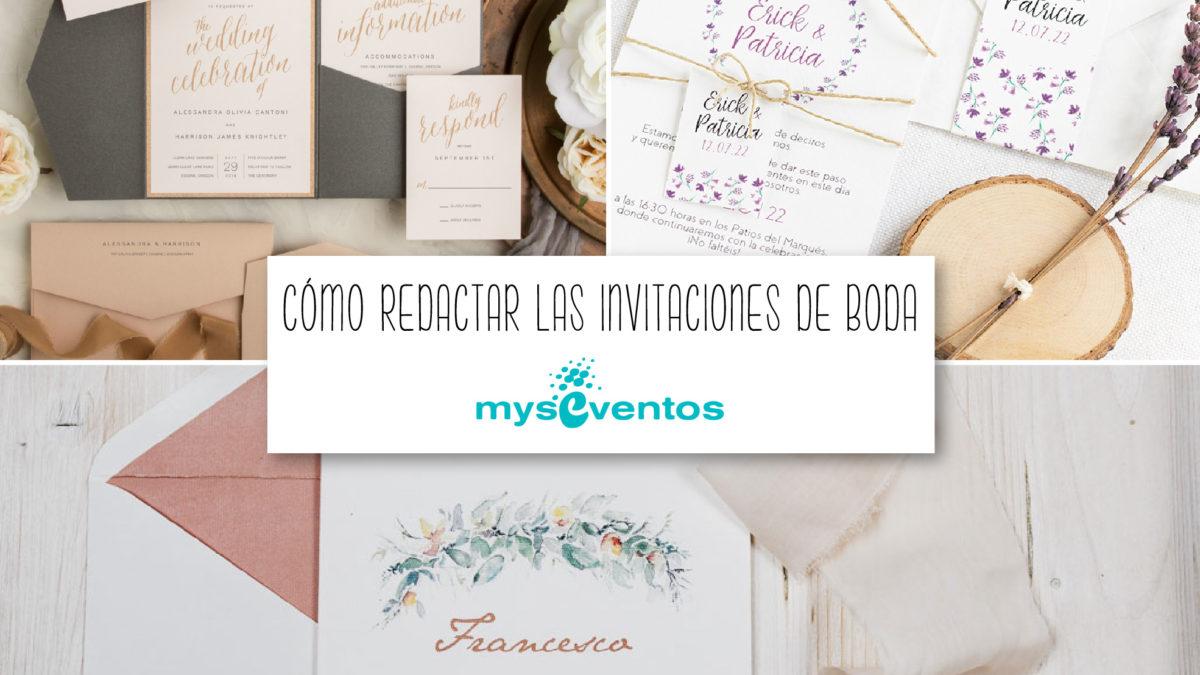 Pasos para redactar las invitaciones de boda