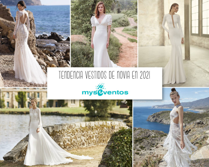 5 tendencias en vestidos de novia 2021