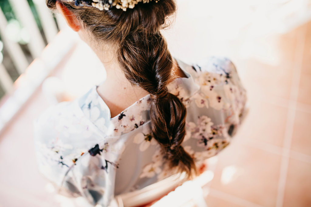 Ideas de peinados de novia - Trenza