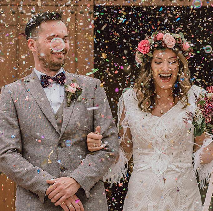 5 alternativas a la lluvia de arroz en las bodas